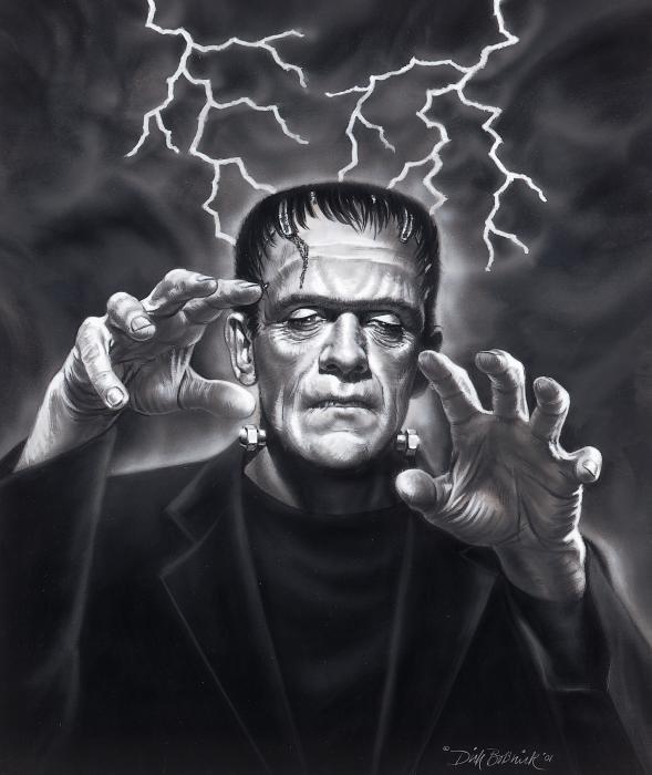 Frankenstein interactive image by CharlotteFichou
