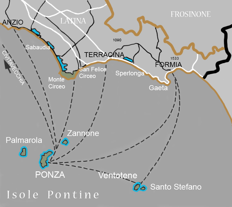Pontine Islands Interactive Map