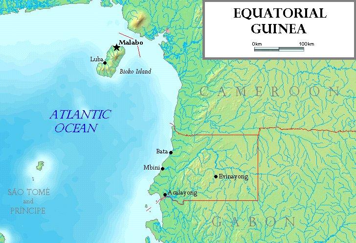 Flag Of Equatorial Guinea The Island Of Bioko Equatoria