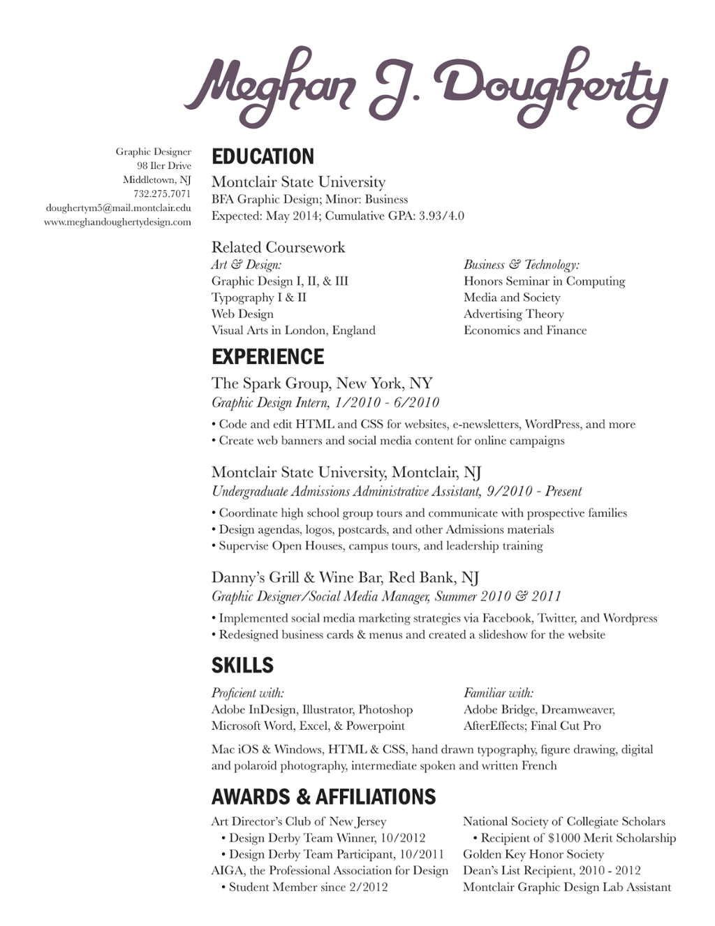 my interactive resume thinglink