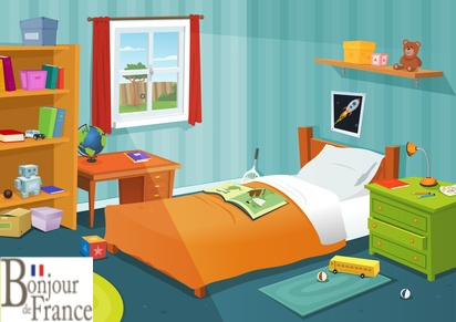 La chambre et les pr positions en fran ais thinglink - Les meubles de la chambre ...
