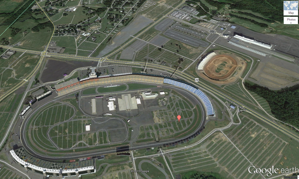 Interactive map of charlotte motor speedway for Map of charlotte motor speedway