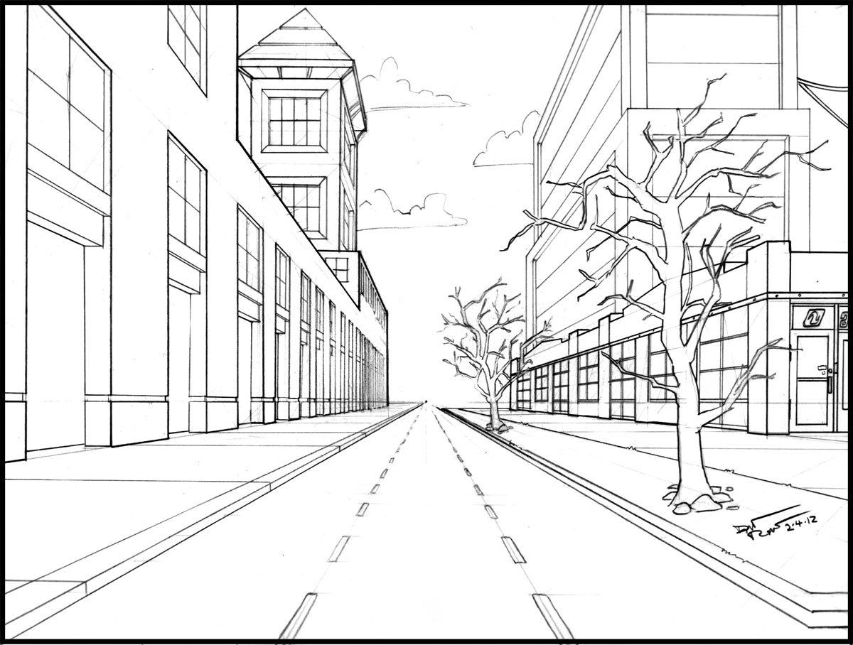 Рисовать карандашом перспектив