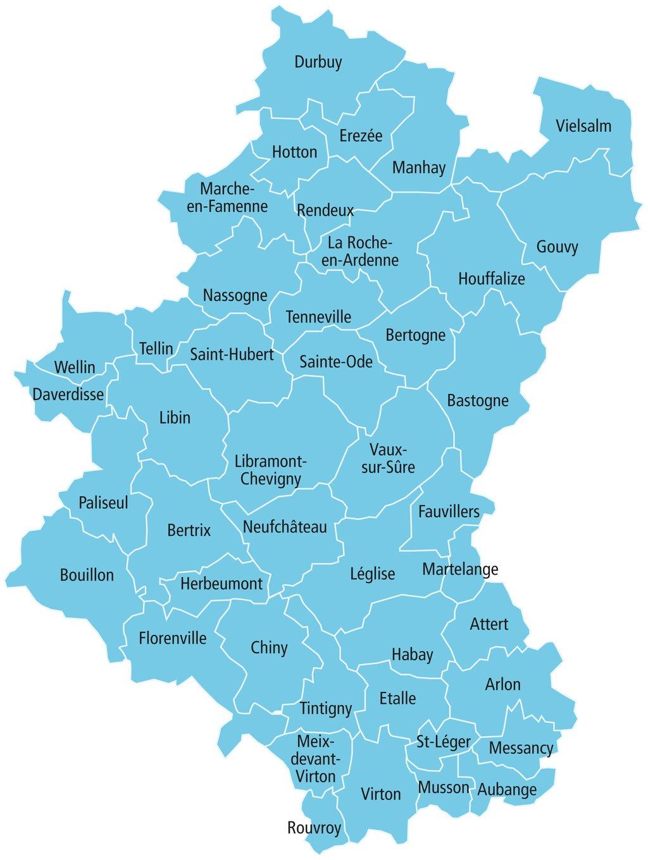 La carte et la qualité des plans d'eau dans la province