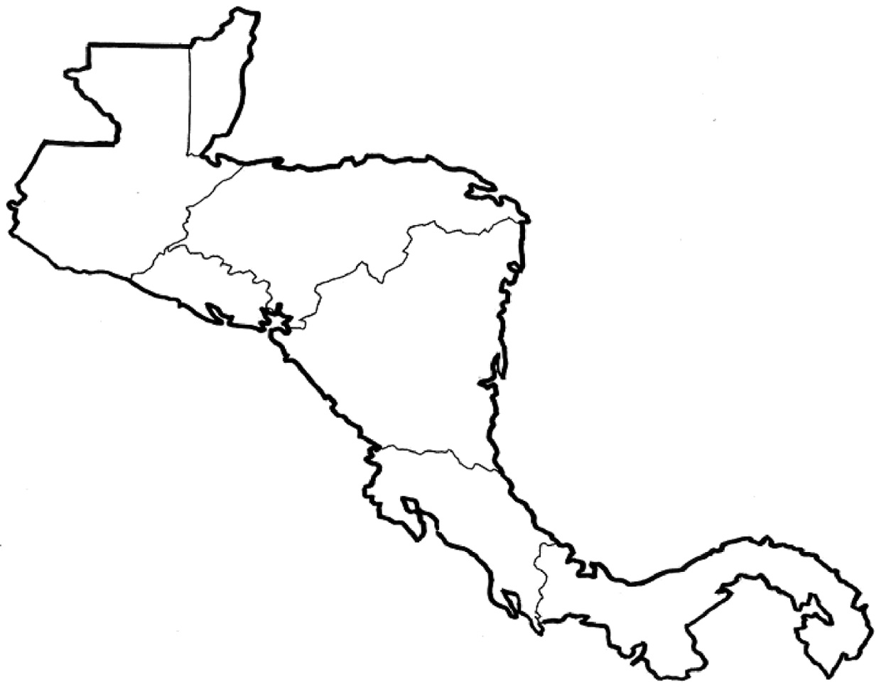 Outline Map Of Usa And Mexico With Central America Printable Map - Usa country map outline
