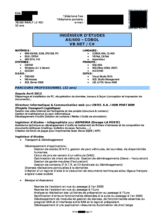 cv d u0026 39 eric  page 1