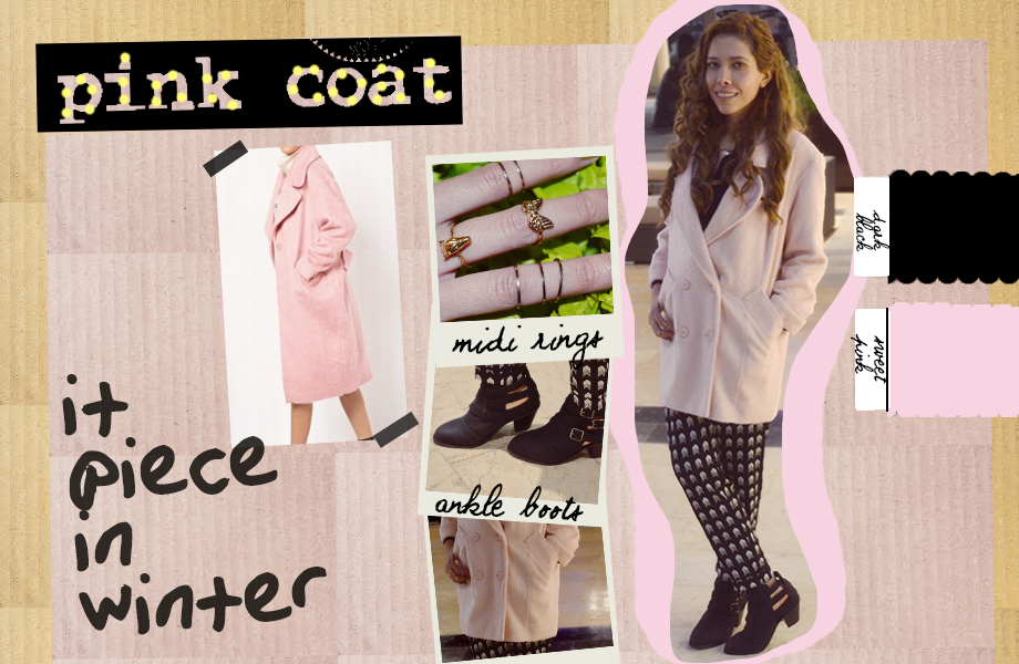 pink coat winter 2013