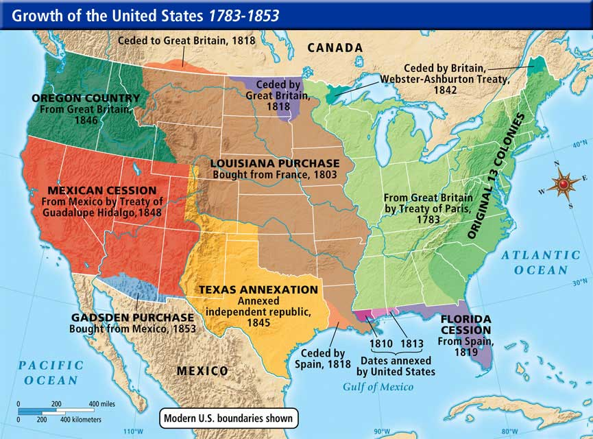 Map ThingLink - 1845 us map