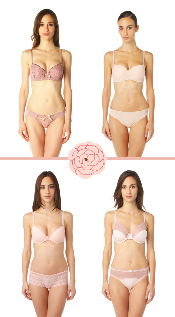 Jolie lingerie rose poudré : Nouvelle Collection