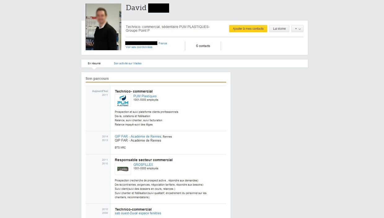 profil viadeo de david