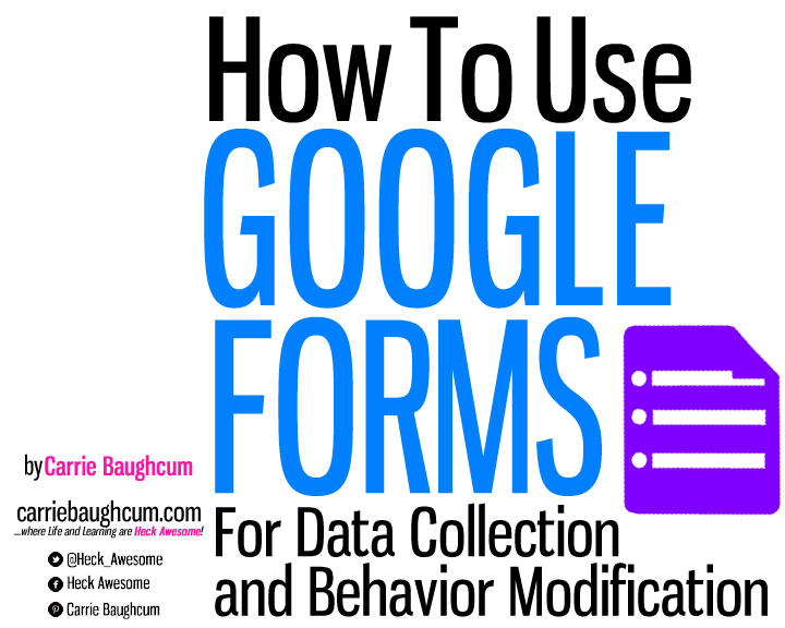 Google Forms for Data Collection and Behavior Modification