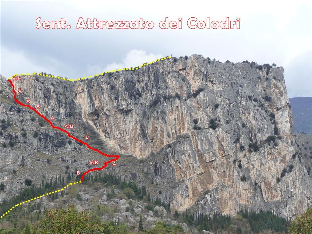 Klettersteig Arco : Bergtour colodri klettersteig veneto garadseeberge arco