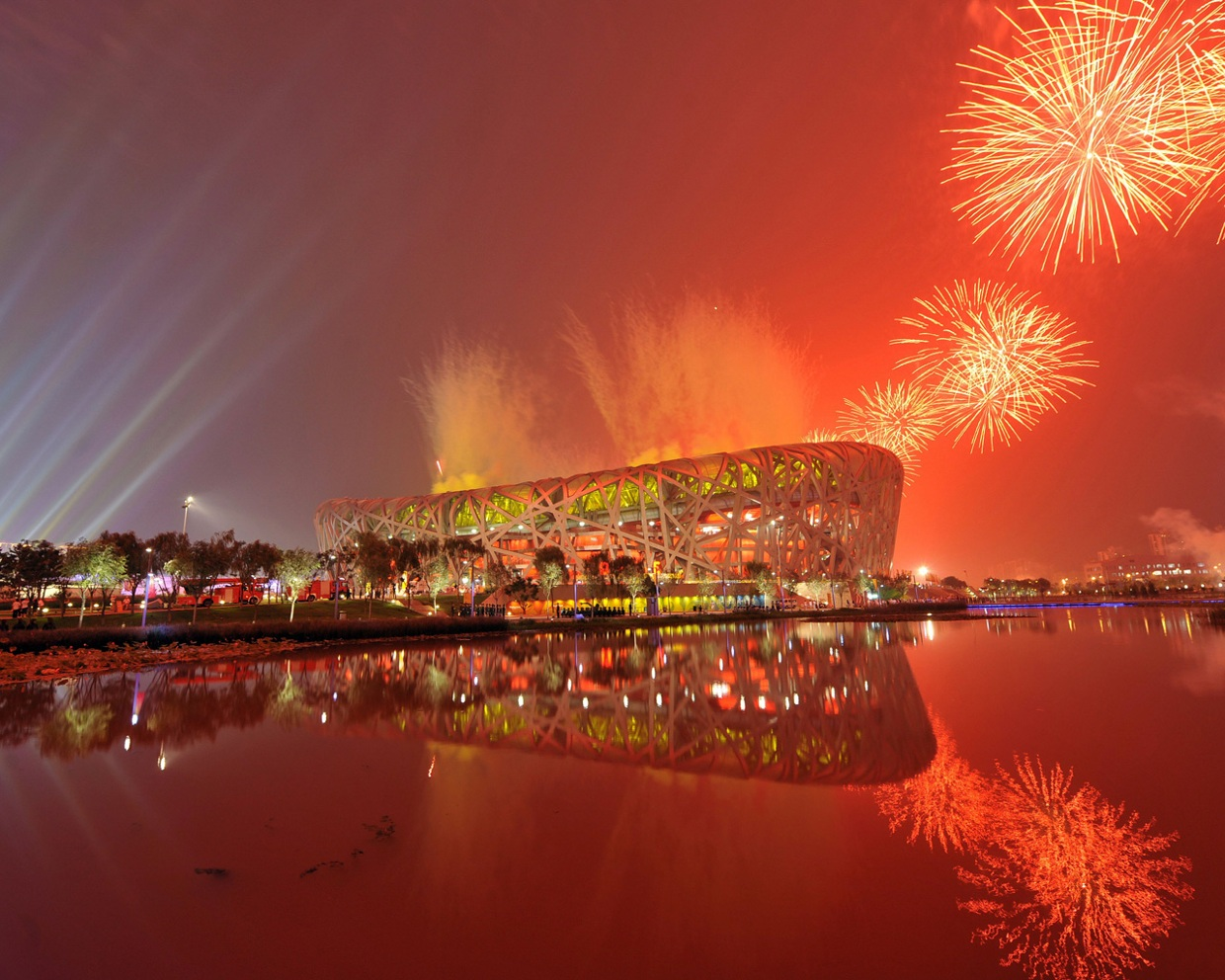 chinese fireworks wallpaper-#31