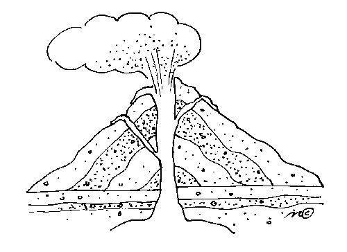 Danielmaggie Les différentes parties d'un volcan