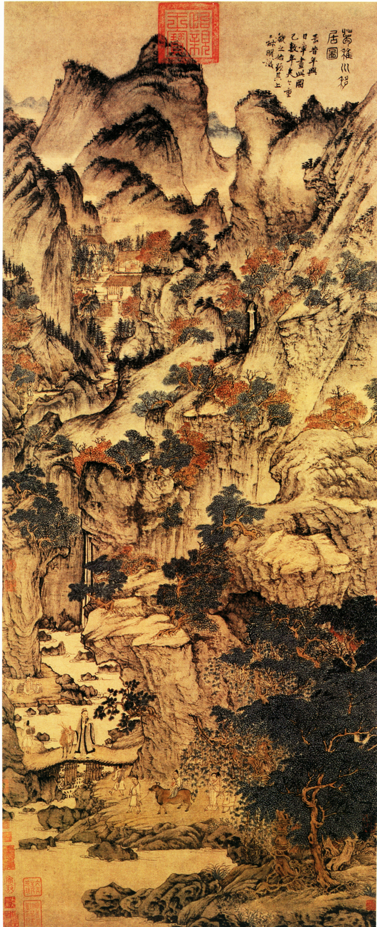 Wang Meng S Scroll Painting Of Ge Zhichuan Moving His Dwelling