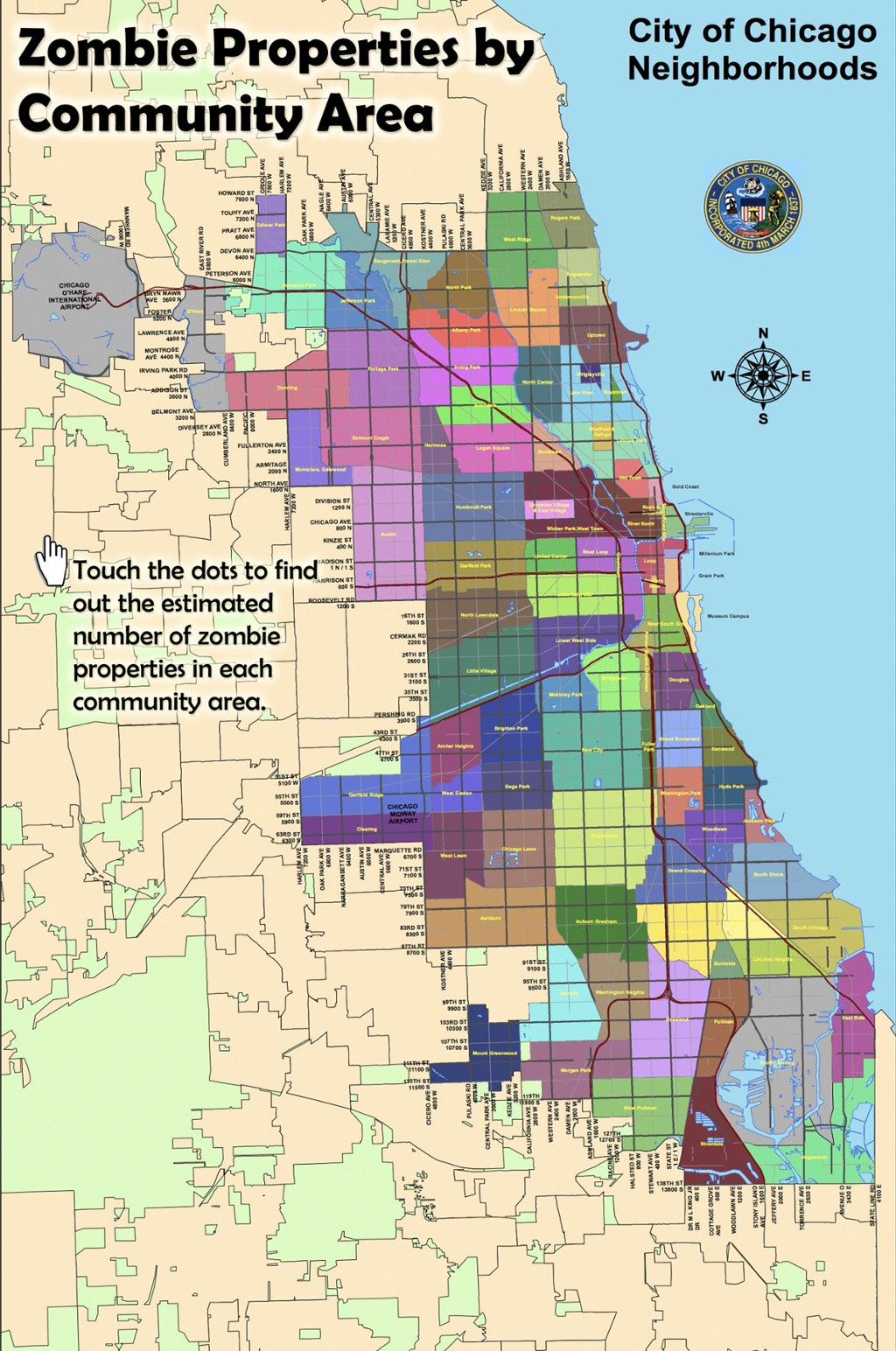 Zombie Properties Chicago Tonight WTTW - Chicago map by neighborhood