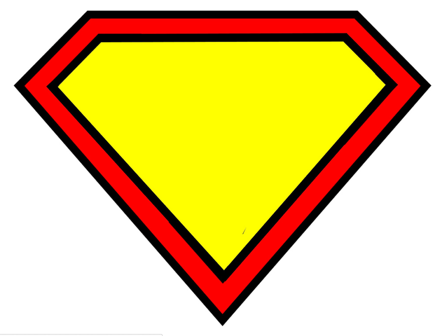 Superman Clipart Using The Letter M