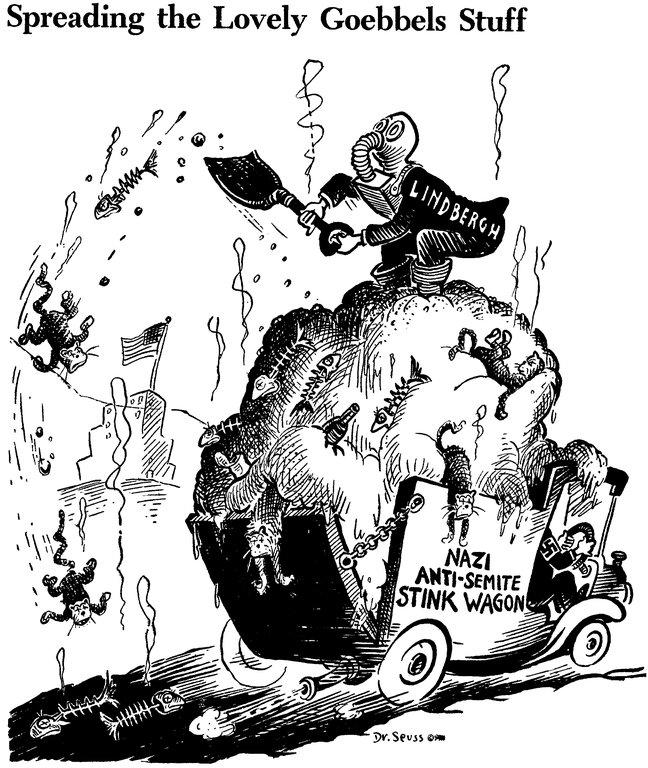 Dr. Seuss WWII Political Cartoon