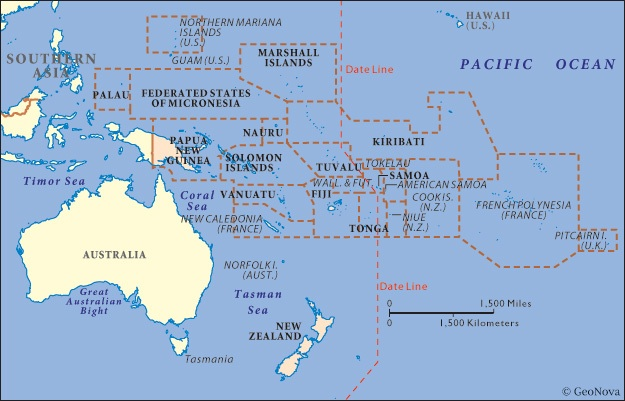 Australia and Oceania ThingLink