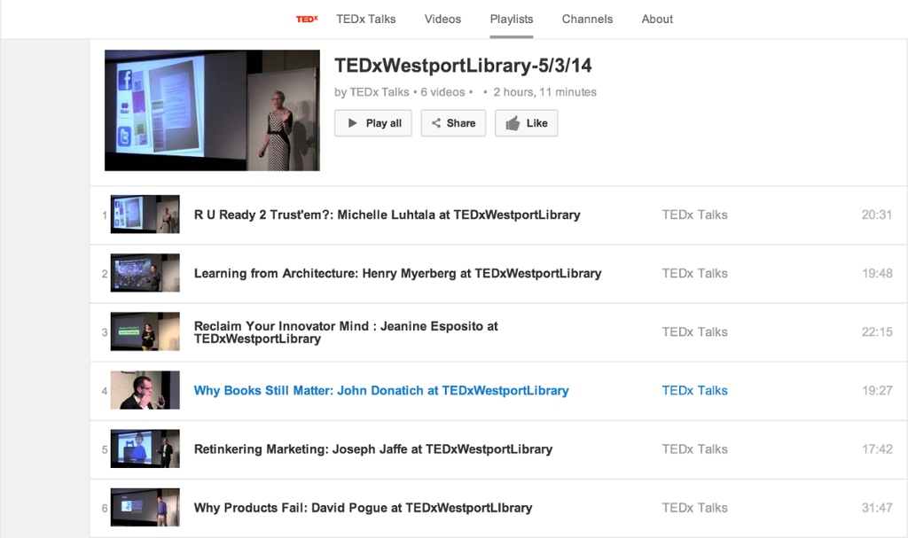Michelle asks: RU Ready 2 Trust 'em? (@TEDxWestport)