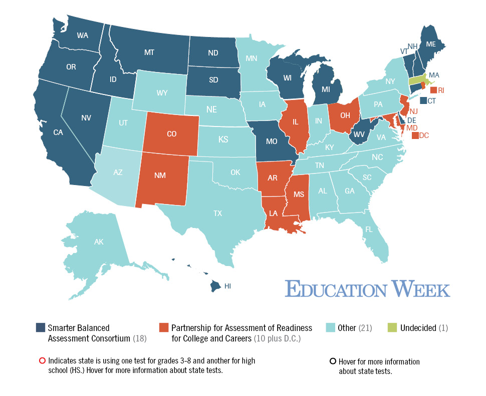 A Map Of States 2015 Testing Plans The Dust Has Finally Settled