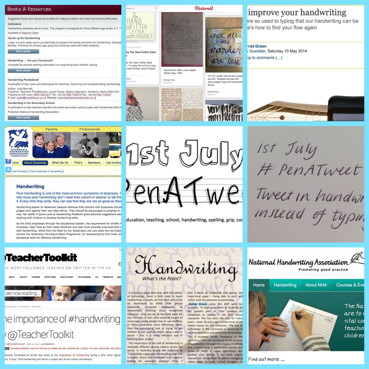 NHA, UKED magazine, Dyspraxia Foundation, adult handwriti...