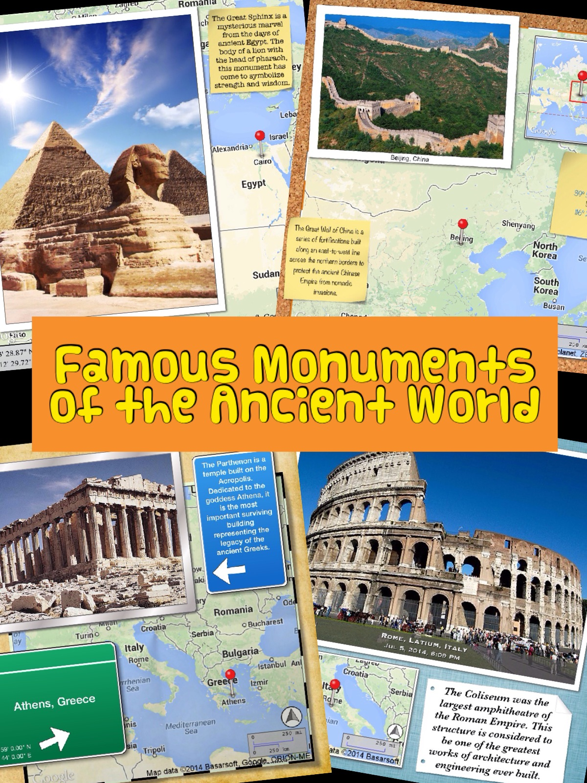 App Smashing: Famous Monuments of the Ancient World