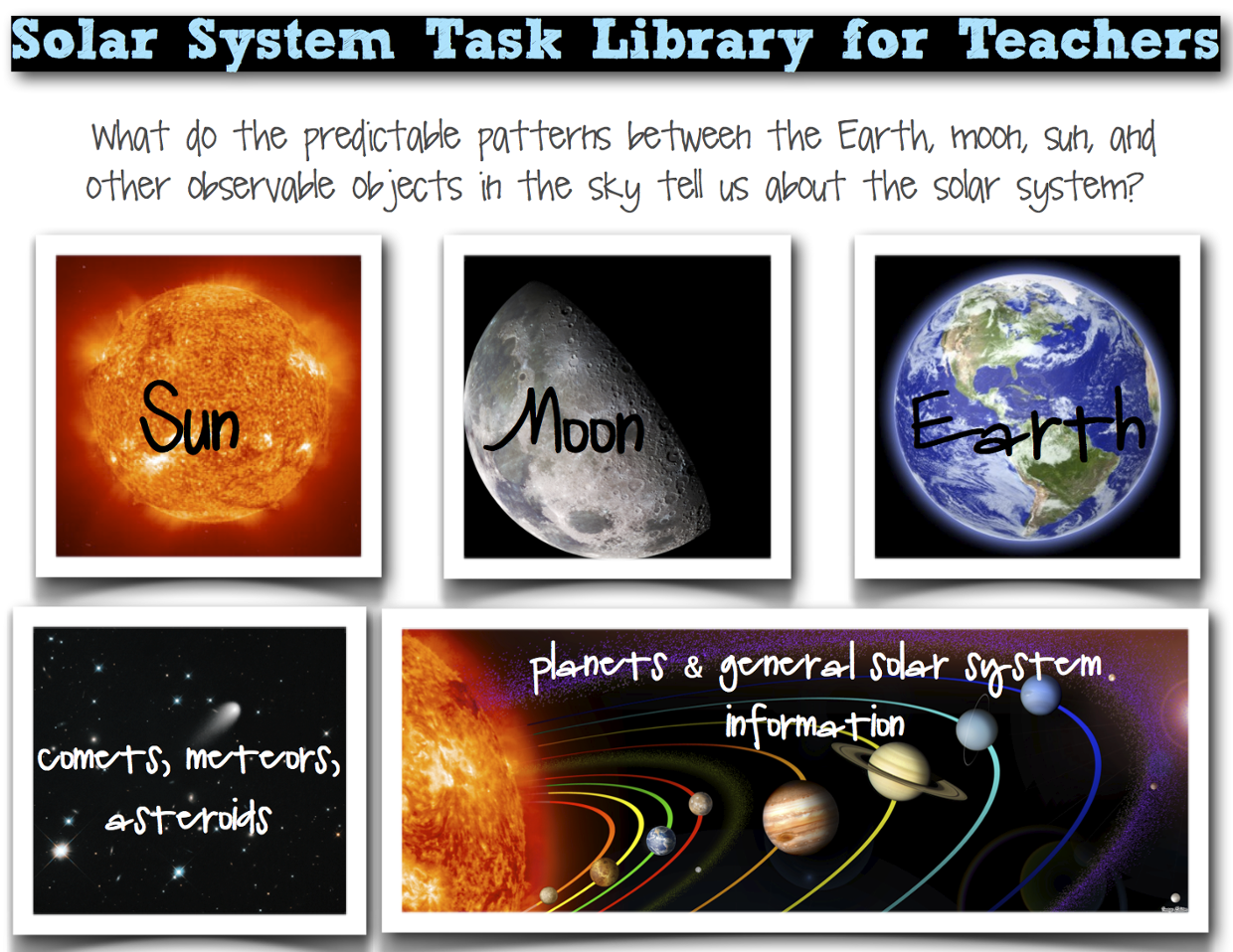 Solar System Task Library for Teachers