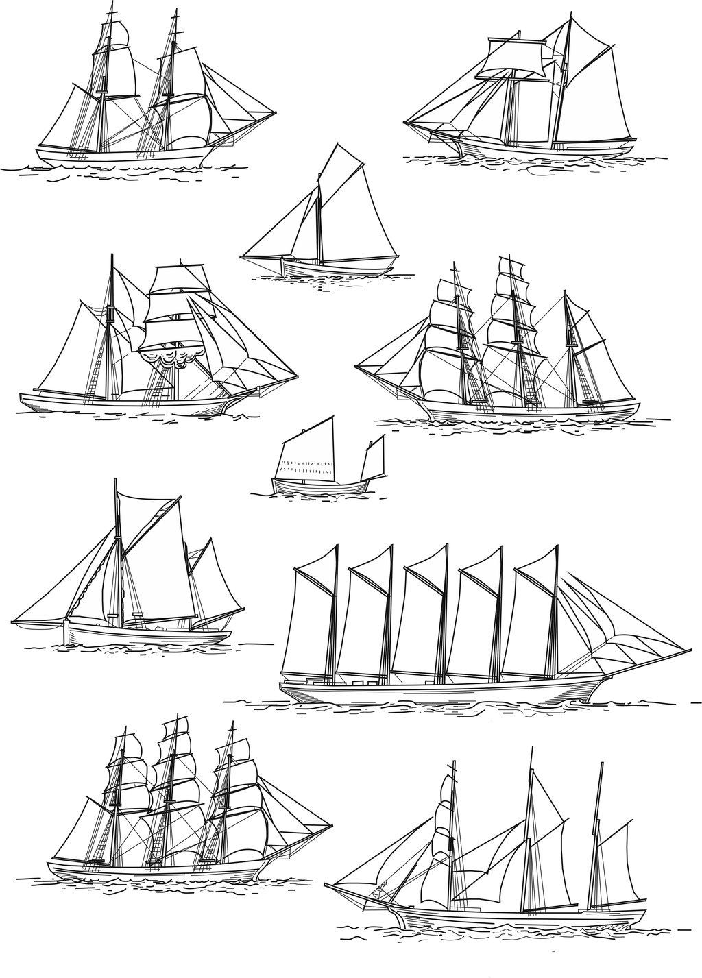 sailing ship rig types