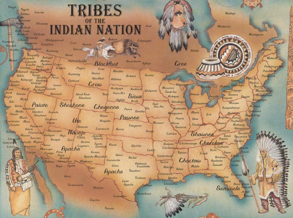 Native American Map ThingLink - Map of indian nations in the us