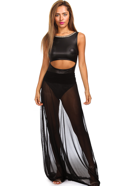 PERFORATED FAUX LEATHER CHAIN EMBELLISHED BODYSUIT $119.00 by Shop Soo Soo