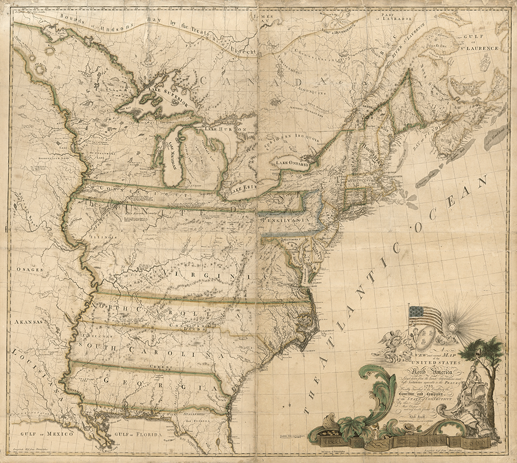 The First Map of America Drawn in 1784 History – Travel Map Of The United States