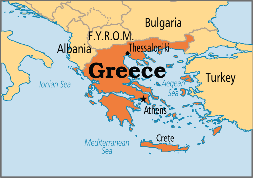 Map Of Greece ThingLink - Map of greece