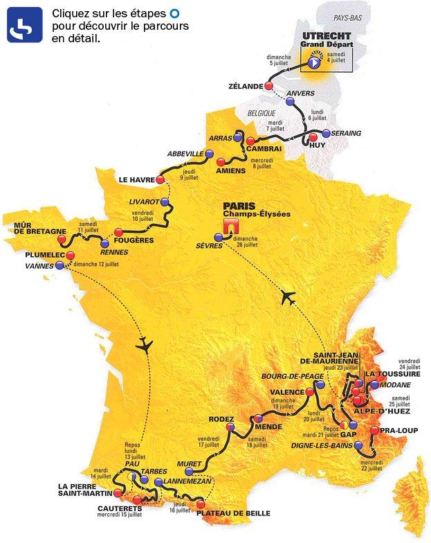 Le parcours du Tour de France 2015