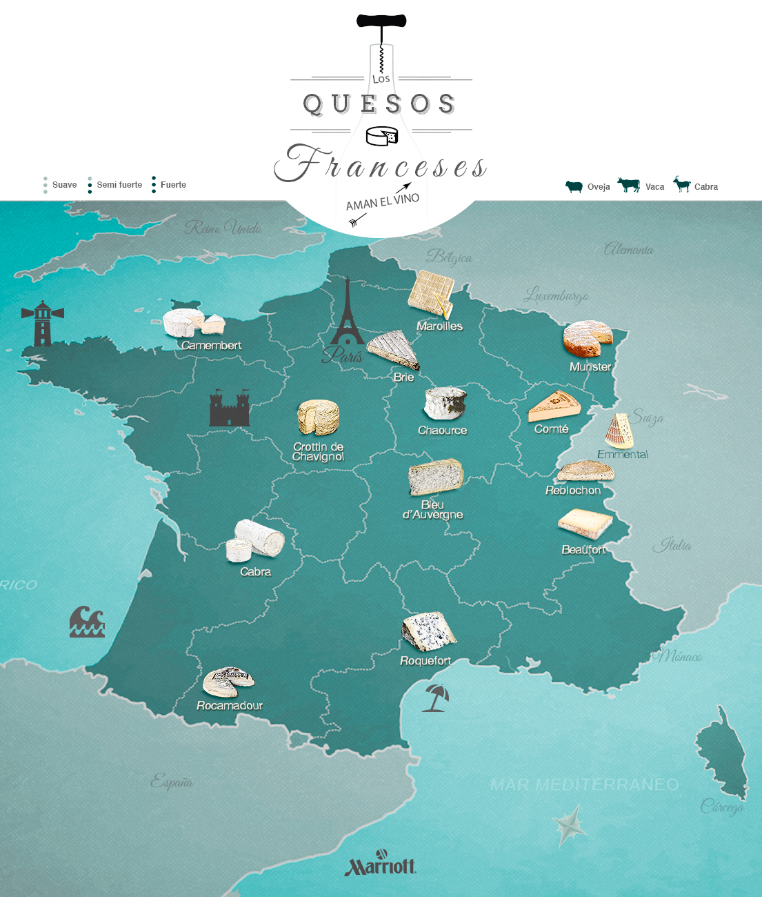 Los quesos franceses aman el vino thinglink for Guisos franceses