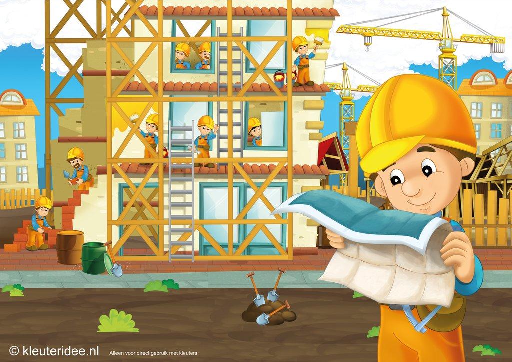 Kleuteridee wij bouwen een huis for Huis bouwen