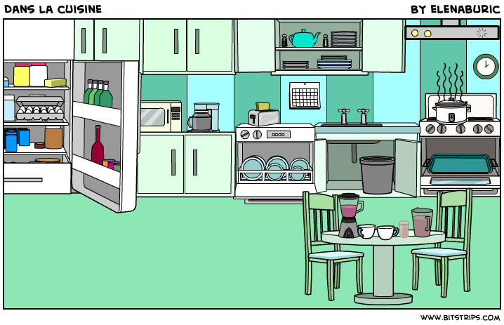 la classe de fran ais dans la cuisine objets de la cuisine image toucher. Black Bedroom Furniture Sets. Home Design Ideas