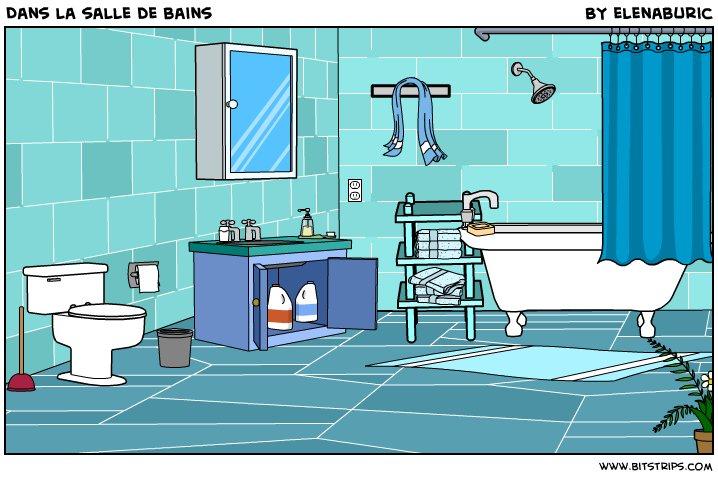 Bien-aimé La classe de français: Dans la salle de bains. Image à toucher. D  LL88