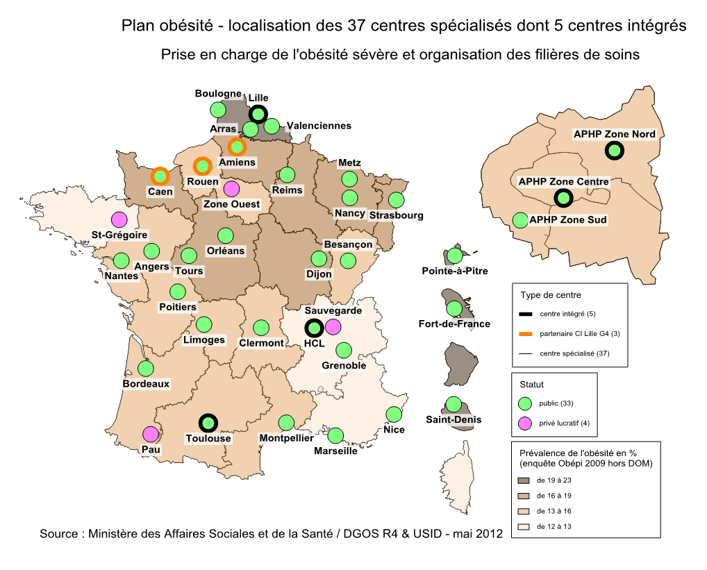 Carte interactive des CSO