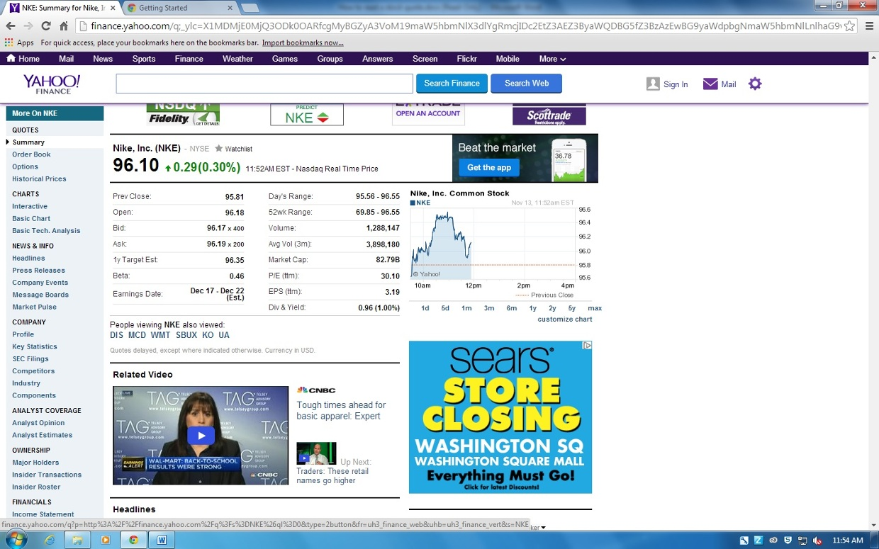 The Ticker Symbol Nike Uses For Stocks Nke The Price Thinglink