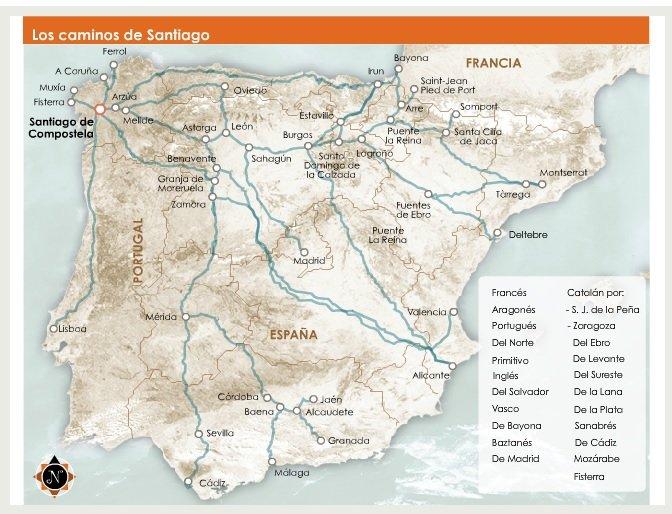 el camino de santiago Maps and profiles for el camino santiago el camino francés interactive google map el camino aragonés interactive google map el camino.