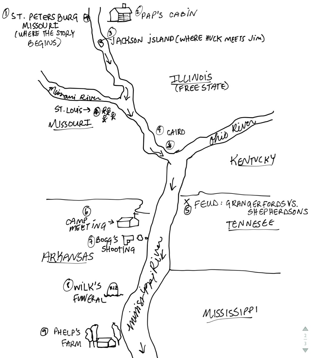 huckleberry finn map thinglink