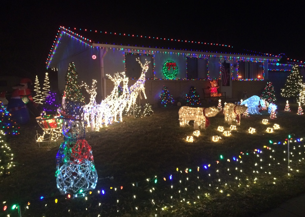 loveland christmas display full of color music interactive image poll link to area lights map loveland reporter herald