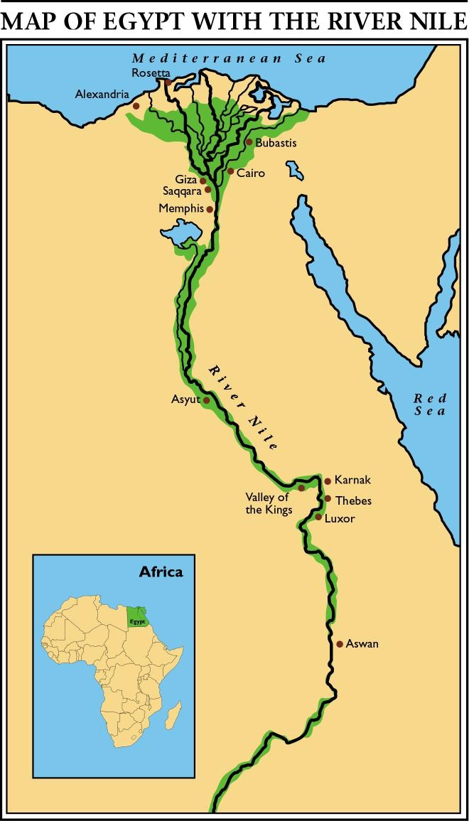 The Egypt Map Of The Nile River By Itary Lopez Thinglink