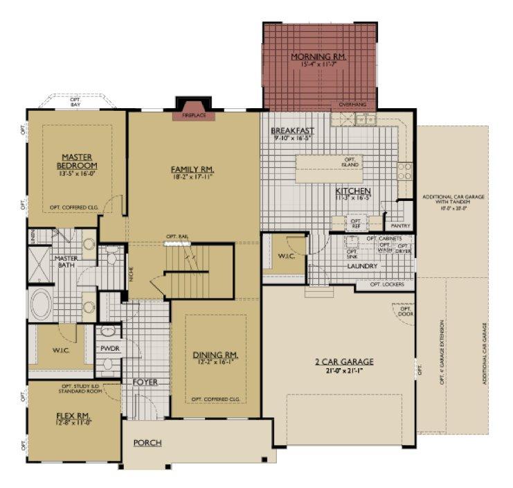 Interactive floorplan william ryan homes jensen model for Interactive home floor plans