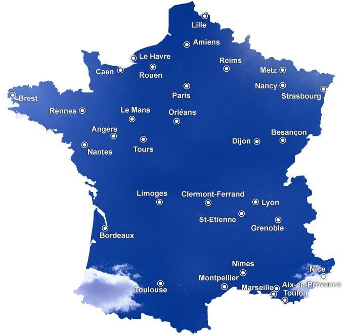 Infos sur carte des ville connue de france arts et voyages - Les villes les plus endettees de france ...