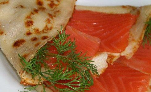 Блинчики с семгой рецепт с фото пошагово