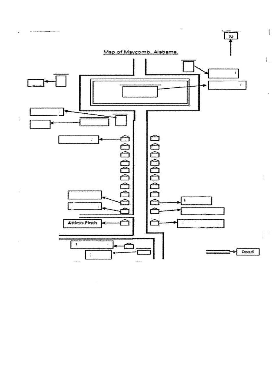Map of Maycomb: To Kill a Mockingbird