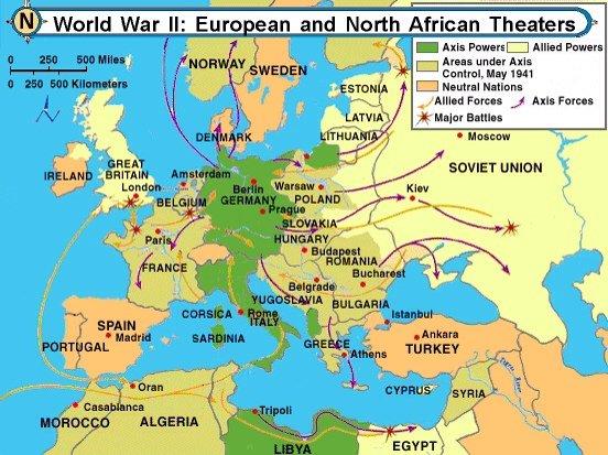 Major Battles of WWII (Europe/Africa) - World War II ...