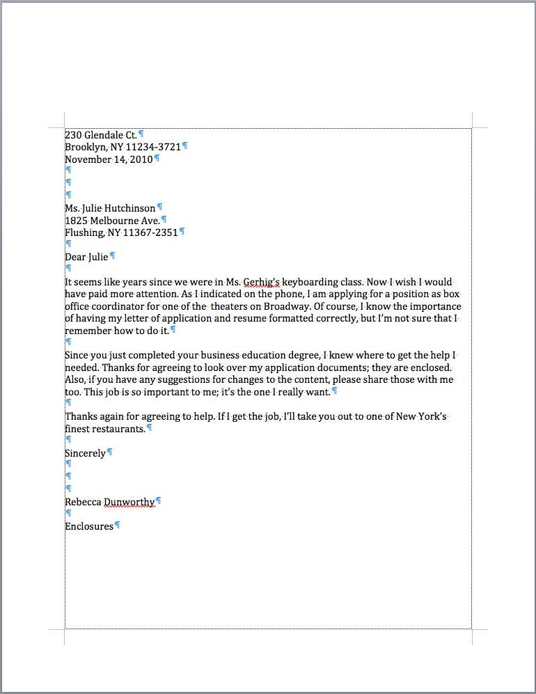 return address  date  letter address  salutation  complim
